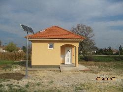 Gógánfa, napelemes térvilágítás kivitelezése UNK-MONO-4W-(T)-2011 kandeláber felhasználásával.