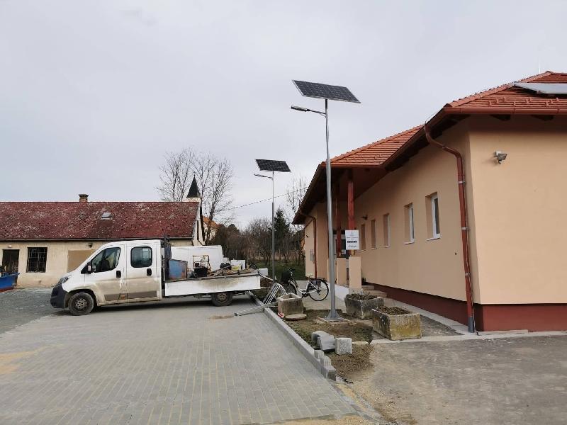 Zalaszentiván, Solar powered street ighting