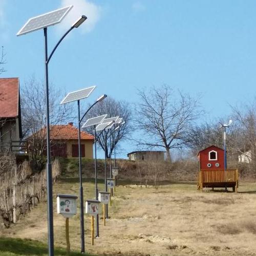 Pázmánd, solar light