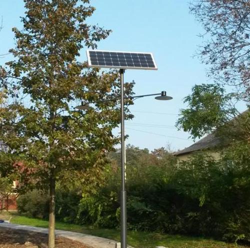 Dunakeszi, Ordass Park, solar public lighting