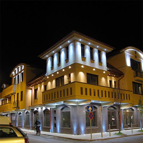 Kiskunfélegyháza, Klapka street LED decor and functional lighting