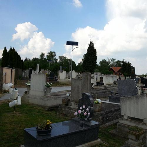Zalaszentiván, cemetery, solar field lighting