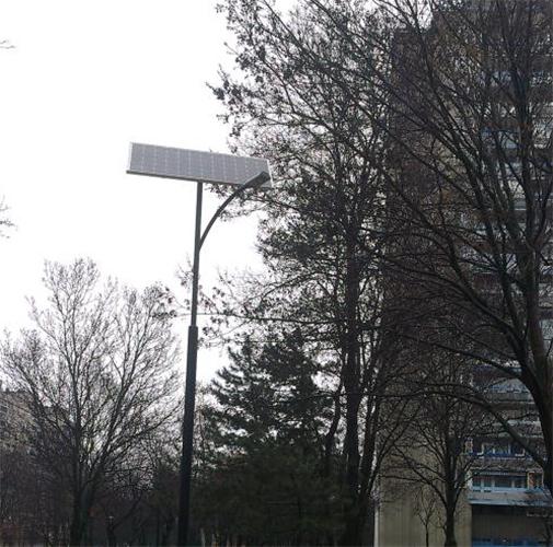 Budapest, Kelenföld, solar field lighting