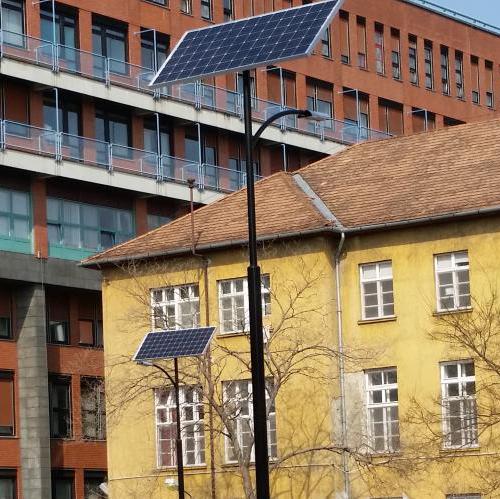 Budapest, Honvéd hospital solar lighting